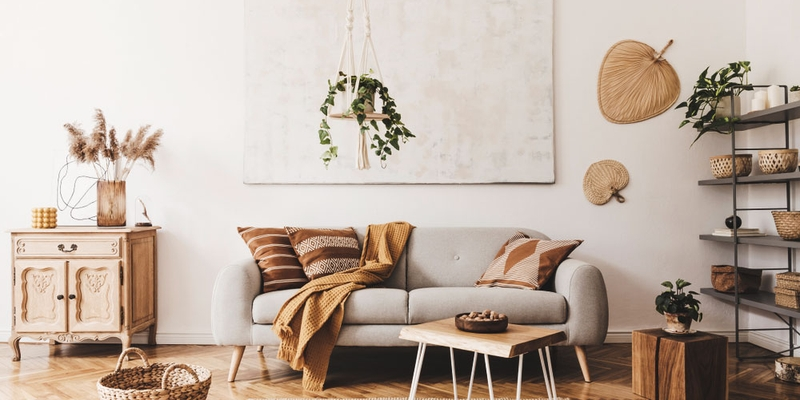 modern home interior shows a lovely nursery with animal accents such as a giraffe and penguin poster