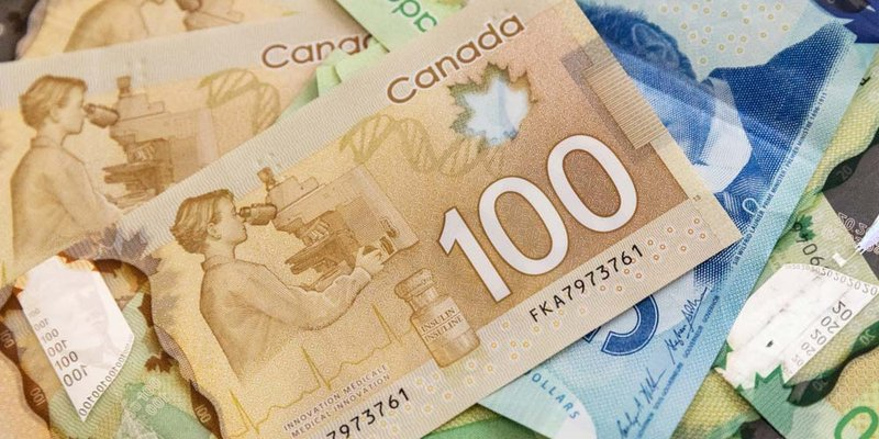 A pile of Canadian banknotes