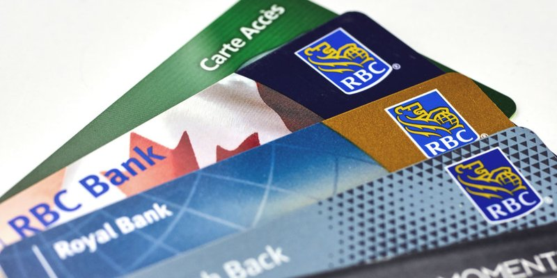 A spread of credit cards from RBC