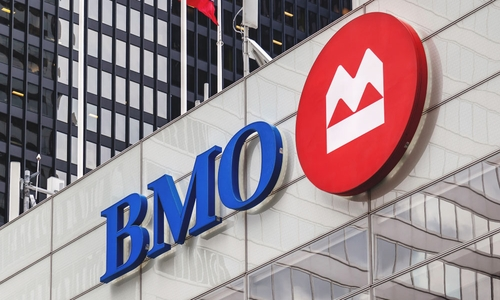 The BMO logo outside a branch
