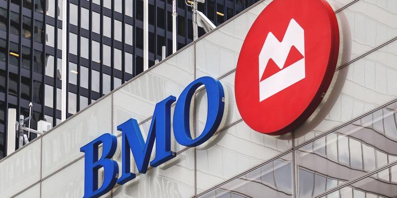 The BMO logo outside a branch